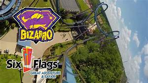 Bizarro Roller Coaster 60 FPS POV Six Flags Great ...
