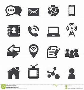 Phone Email Icon Vector.Contact Icons Vector Vectorish ...
