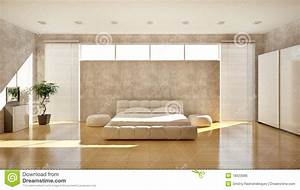 modern interior of a bedroom royalty free stock image With markise balkon mit braun beige tapeten