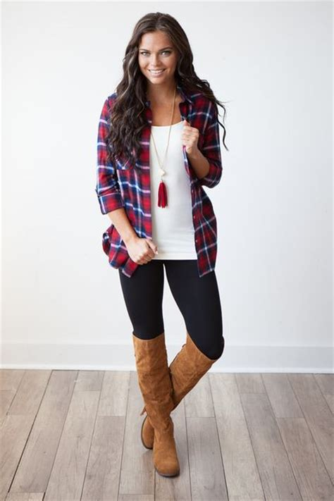 17 Best ideas about Red Flannel Outfit on Pinterest | Casual rocker style Punk fashion style ...