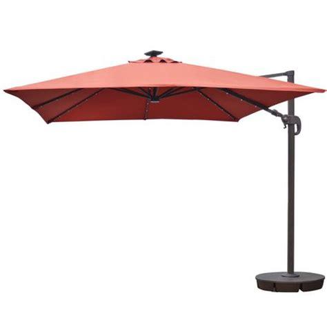 sunbrella patio umbrellas walmart island umbrella santorini ii 10 ft square