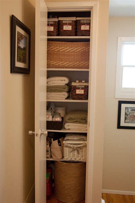organize your linen closet organizing