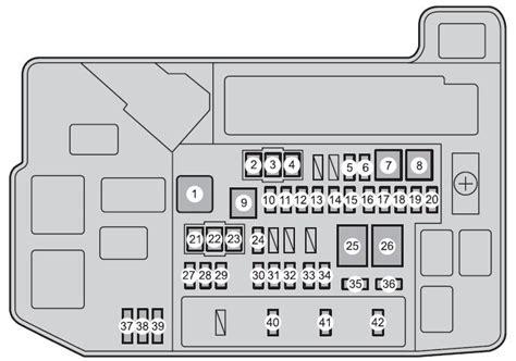toyota prius plug  hybrid  fuse box diagram
