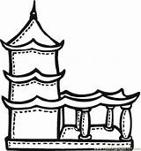 Coloring Temple Buddhist Pages Drawing Terrace Printable Mayan Chinese Temples Colour Pagoda Buddhism Drawings Religions Children Buddhists Coloringpages101 Buddist Getdrawings sketch template