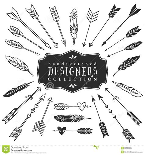 vintage decorative arrows  feathers collection hand