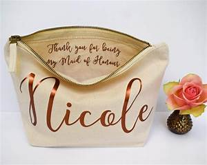 wedding thank you gift personalised bridesmaid gift make With wedding gifts for bridesmaids