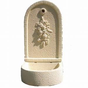 Fontaine D Exterieur En Pierre : fontaine en pierre reconstitu e ton pierre bouquet de ~ Premium-room.com Idées de Décoration