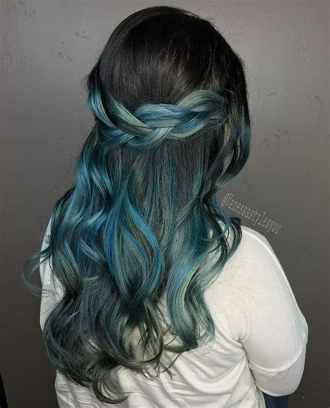 black hair styles 40 like blue ombre hairstyles blue ombre black 9194
