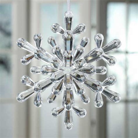 Crystal Acrylic Snowflake Ornament Snow Snowflakes