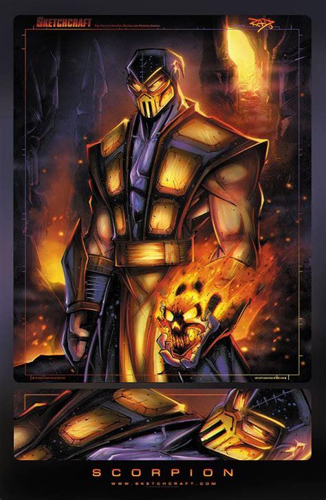 Scropion By Rob Duenas Mortalkombat Video Game Art