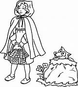 Coloring Grandma Vermelho Chapeuzinho Rosso Cappuccetto Disegni Colorir Desenhos Kleurplaten Roodkapje Disegno Hood Chaperon Coloriage Riding Rouge Imprimir Grandmother Printable sketch template