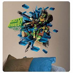 Wall decal awesome ninja turtle wall decals ninja turtles for Awesome ninja turtle wall decals