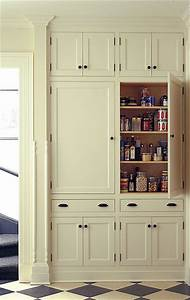 Pantry traditional kitchen burlington by kenzer for Built in pantry cabinets for kitchen