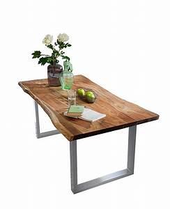 Esstisch Akazie Baumkante : esstisch baumkante massiv akazie nussbaum 140x80 silber ~ Watch28wear.com Haus und Dekorationen