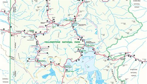 yellowstone map official yellowstone national park map