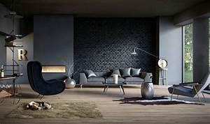 idee peinture salon couleurs neutres dans les interieurs With couleur beige peinture murale 16 tableau style industriel contemporain
