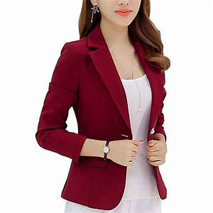 New Long sleeved Slim Women Blazers And Jackets Small ...