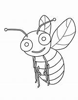 Bee Bumble Coloring Printable Template Bees Templates Bestcoloringpagesforkids Flowers sketch template
