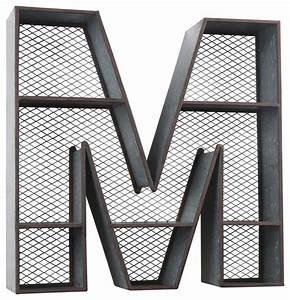 wilco home galvanized tin letter wall shelf wall letters With galvanized wall letters