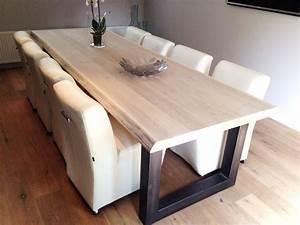 Tischdecke 3 Meter Lang : eiken tafel 3 meter natuurlijktafelen ~ Frokenaadalensverden.com Haus und Dekorationen