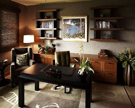 Modern Home Office Design With Leather Chair Home
