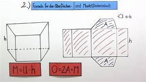 Oberflächeninhalt Quader Berechnen : oberfl cheninhalt eines prismas berechnen bungen arbeitsbl tter ~ Themetempest.com Abrechnung