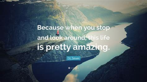 """You are worth of millions of compliments and i will spend my entire life telling you how wonderful and stunning you are. Dr. Seuss Quote: """"Because when you stop and look around, this life is pretty amazing."""" (24 ..."""