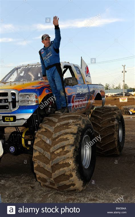 Monster Truck Bigfoot Driver Dan Runte Waves To Fans At