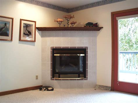 Corner Fireplaces with Tile Surround
