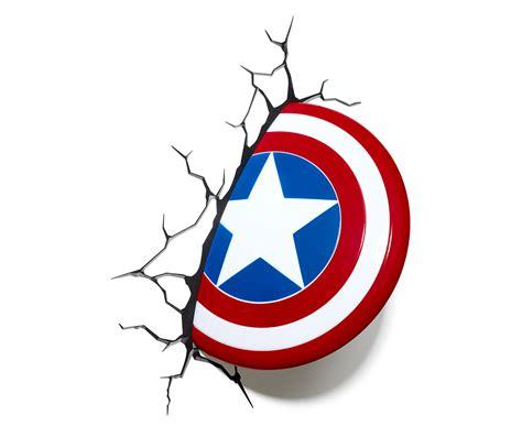 3d marvel captain america shield wall light white blue ebay