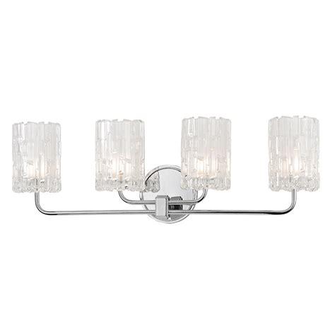 4 bulb vanity light hudson valley 1334 pc dexter polished chrome xenon 4 light