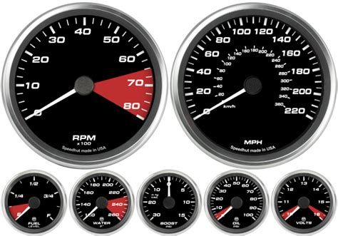 decorative gauges australia speedhut 7 custom set ford gt custom dash kit