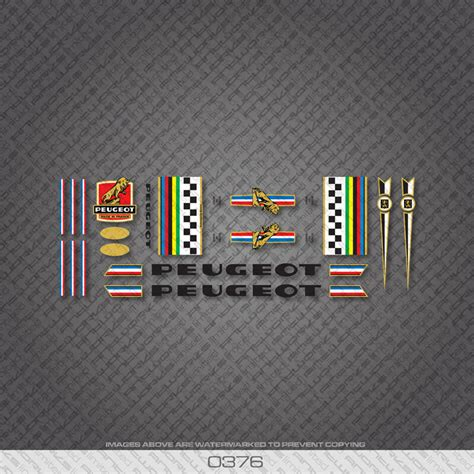 Peugeot Bike Frame by 0376 Peugeot Bicycle Frame Stickers Decals Transfers