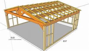 plan charpente garage 2 pentes immobilier pour tous With creer un plan de maison 3 quelle type de charpente