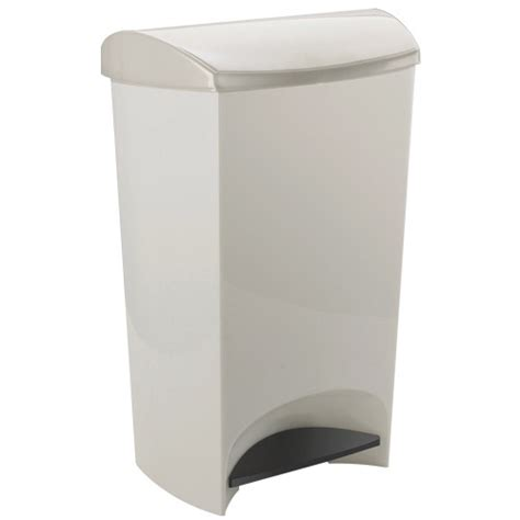 plastic kitchen trash can umbra plastic step trash can white in kitchen trash cans