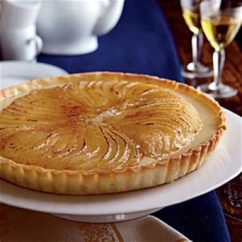 roasted pear cr 232 me br 251 l 233 e tart 100 healthy dessert ideas cooking light