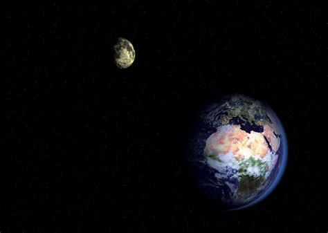 Space Images Binary System Earth Moon