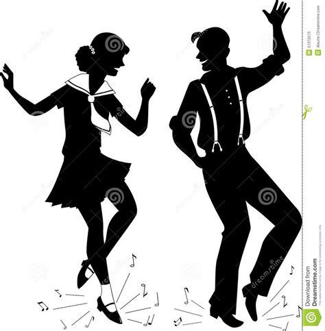 Streetdance Kleurplaat by Siluetta Di Tip Tap Illustrazione Vettoriale Immagine