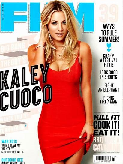 Fhm Cuoco Kaley Magazine July Photoshoot Covers