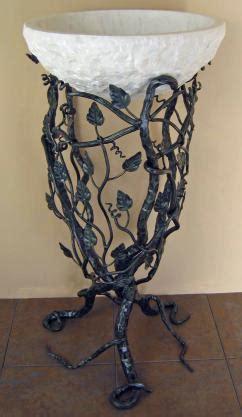 forged iron pedestal vessel sink stand custom finish