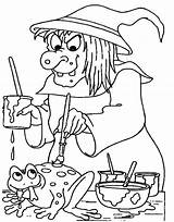 Coloring Witch Pages Scarlet Wicked Spooky Frog Adults West Witches Printable Getcolorings Colorings Getdrawings Pag sketch template
