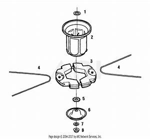 Mtd 25a Mower  2000  Parts Diagram For Trim Head Assembly