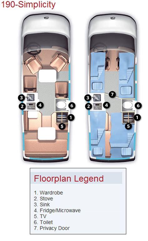 Roadtrek 190simplicity Class B Motorhome Floorplans