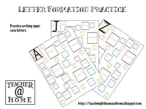 letter formation practice upper case teacherathome