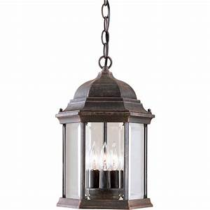 In h painted rust outdoor pendant light at lowes