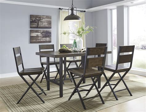 Rectangular Dining Room Counter Table W/ Pine Veneers And