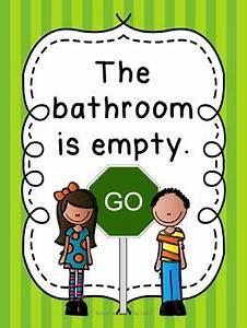Adorable 90 bathroom signs for kindergarten design for Bathroom signs for classroom