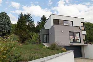 plan maison moderne sur terrain en pente With plan de maison sur terrain en pente