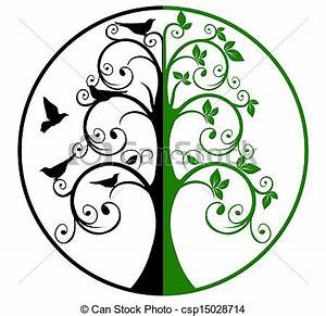 Vector Clip Art of Tree of Life and Death csp15028714 ...
