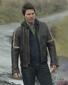 Tom Cruise War of Worlds Leather Jacket - Leather4sure Men